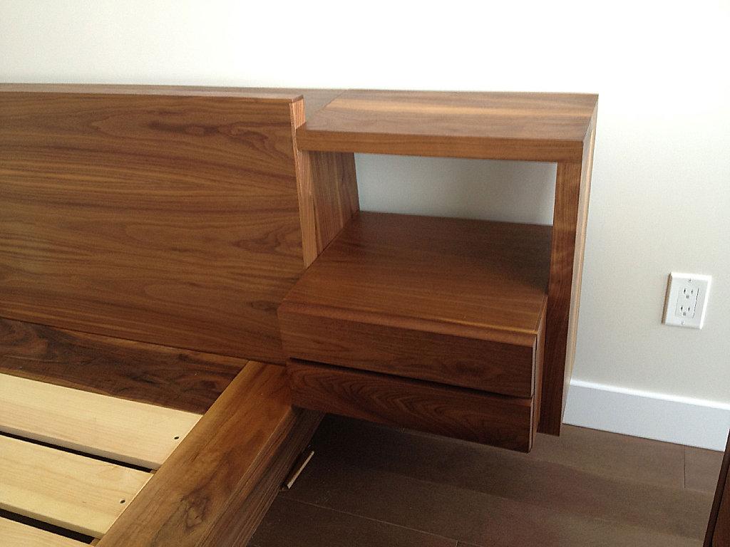 walnut platform bed