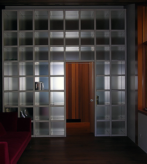 white bookcase for NWC
